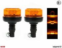 2x Lampeggiante Flessibile Omologato E9 12 Led 4 Funzioni 17cm Trattore Camion