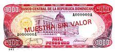 Dominican Republic ... P-124S3 ... 1000 Pesos ... (1987)AA ... *UNC*
