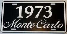 1973 73 MONTE CARLO METAL LICENSE PLATE 350 400 454 SS LOWRIDER CHEVY