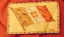 Vintage Circa 1910 Tobacco Flannel Felt Flag Of Italy