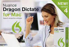 BRAND NEW Nuance DRAGON DICTATE 4.0 Version 4 for Mac USB Headset JUST RELEASED