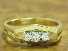 18kt 750 Bicolour Gold Ring with 0,31ct Brilliant Decorations/ Diamond/ 5,8g/ Rg