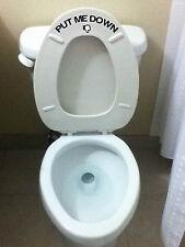 """""""PUT ME DOWN"""" Toilet Sticker"""