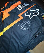 RICKY CARMICHAEL SIGNED FOX RACING- HC PROVERB JERSEY-COA -LARGE