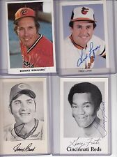 signed team issue postcard signed Johnny Bench  w/COA