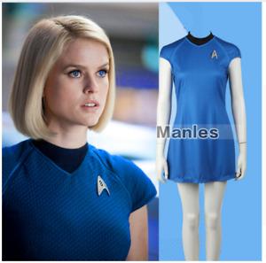 Star Trek Into Darkness Fleet Uhura  Blue Women Dress Cosplay Uniform Costume