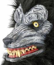 """Realistic Werewolf Mask Prop Adult 18""""x 8"""" Halloween Costume Halloween Prop NEW"""