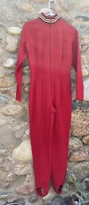 1980s Ralph Lauren Womens Red One Piece Ski Suit sz10