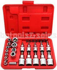 30pc Male Tamper Proof Star Bit & Female E Socket Set Torx Driver Bits Tool CR-V