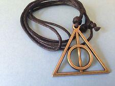 Colgante Harry Potter Reliquias de la Muerte. Deathly Hallows Necklace. Cordon.