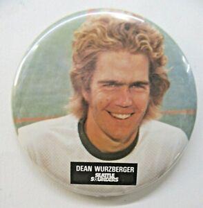 "scarce 1974-75 DEAN WURZBERGER Seattle Sounders soccer 3 3/8"" pinback button"