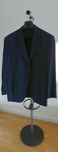 KITON Napoli Sakko Gr. 50 Blau Neuwertig Jackett Wolle