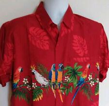 Rima Hawaiian Caribbean Parrot Shirt Button Down Front Mens Size Medium