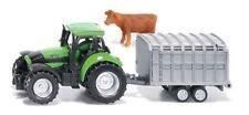 SIKU 1640 Deutz-fahr Agrotron 265 Tractor With Cattle Trailer & Cow Diecast