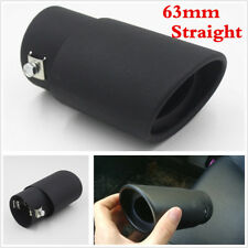 Black 63mm Stainless Steel Car Exhaust Pipe Tip Tail Muffler Cover Car styling