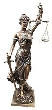 GREEK SCALES OF JUSTICE DIKE LA JUSTICA STATUE FIGURINE LADY JUSTICE JUDGEMENT