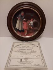 Norman Rockwell Knowles Collector Plate 1987 Grandma's Surprise Mother's Day