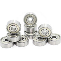 "10Pcs - 1601ZZ 3/16"" X 11/16"" X 1/4"" Double Shield Ball Bearing Inch Bearings"
