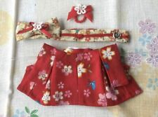 Sylvanian Families HANDMADE RED KIMONO FOR MOTHER Sakura Pattern