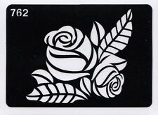GT762 Body Art Temporary Glitter Tattoo Stencil Flower Rose Henna Flowers