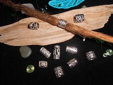 Dreadlock Beads **BUMPER MIX PACK** 10 x Silver Dread Beads 4.5-6.5mm Hole Size