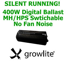 GROWLITE 400W DIGITAL BALLAST MH/HPS DIMMABLE QUIET RUNNING (NO FAN) SILENT
