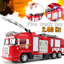 RC Fire Truck Funnel Remote Control Manual Ladder Fire Engine Toy Car Vehicles