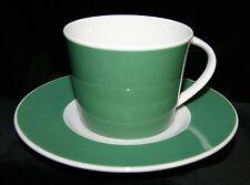 Mitterteich Porzellan 2 tlg Kaffee/Tee Gedeck Grün-Weiß Geschirr