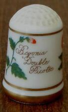 1978 Franklin Porcelain Bloemen Van Nederland Thimble Begonia Double Picotee VGC