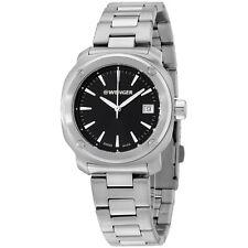 Wenger Black Dial Stainless Steel Ladies Watch 011121101