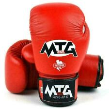 MTG Pro Boxing Gloves Red Muay Thai Leather