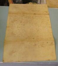 1846 Lancaster PA Mayor Michael Carpenter Autograph Signed Loan Reduction Letter