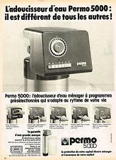 PUBLICITE ADVERTISING 104  1978  PERMO   adoucisseur d'eau ménager à programme