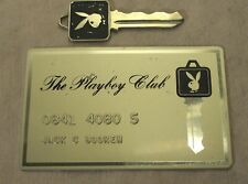 1960s~PLAYBOY CLUBS INTERNATIONAL~MEMBERSHIP CREDIT CARD & VIP PLAYBOY BUNNY KEY