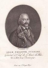 Portrait XVIIIe Adam Philippe de Custine Général Député Constituante Révolution