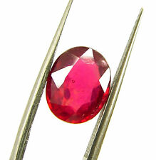 3.20 Ct Certified Beautiful Natural Ruby Loose Oval Gemstone Stone - 118056