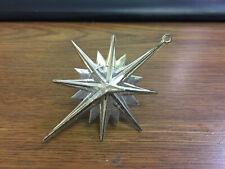 3D Silver Plastic Christmas Star Ornament
