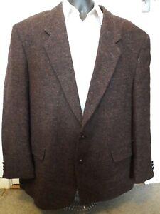 mens harris tweed flecked jacket / blazer size 48 , 2 button