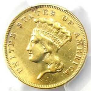 1859 Three Dollar Indian Gold Coin $3 - Certified PCGS VF Details - Rare Coin!
