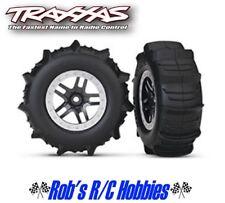 TRAXXAS Paddle Tires w/SCT Split Spoke Rear Wheels (2) Slash (TRA5891)