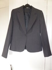 BNWOT 'George' Grey/Charcoal Pinstripe Suit Jacket - Size 10