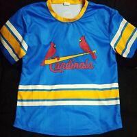 St Louis Cardinals SGA XL Fox Sports Midwest Blue Jersey Baseball
