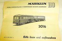 Märklin MANUEL 3016 68 316 MN 0264 RU Å