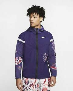NIKE WILD RUN WINDRUNNER JACKET - IMPERIAL PURPLE - MENS SIZE XL- NEW!