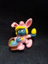 Vintage Easter Smurfette Figure cica 1982 From Schleich used 178129 **