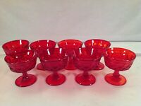 Set Of 8 Noritake Perspective Ruby Glass Champagne Sherberts