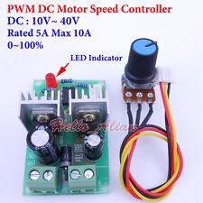 DC 10-40V 12V 24V 36V 5A PWM DC Motor Speed Control Controller Adjustable Switch