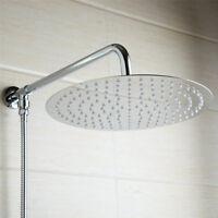 Bathroom 6'' Slim Rainfall Shower Head & Shower Arm Chrome Finish Wall Mounted