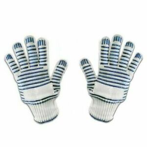 🔥 2 X AMAZING HEAT RESISTANT OVEN BBQ GLOVE WITH FINGERS LEFT RIGHT HAND