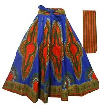 Dashiki Maxi Skirts Long Maxi Ankara African Print Elastic Waist Dress Plus Size
